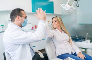 young woman visiting the dentist